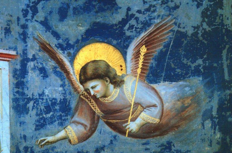Sc  232 nes de la Vie de la Vierge - La Pr  233 sentation au Temple  d  233 tail d    Giotto Di Bondone Frescoes