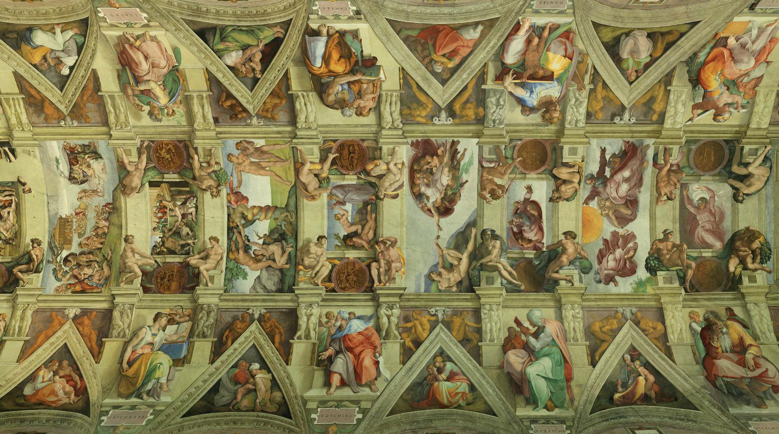 M ditation le plafond de la sixtine chemin d 39 amour vers le p re au fil des jours - Michel ange chapelle sixtine plafond ...