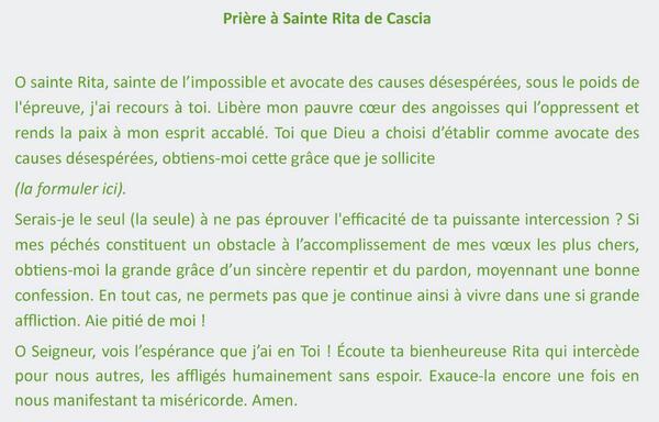 Préférence Sainte Rita OC83