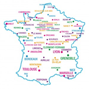 Listes De Villes France Sur Une Carte